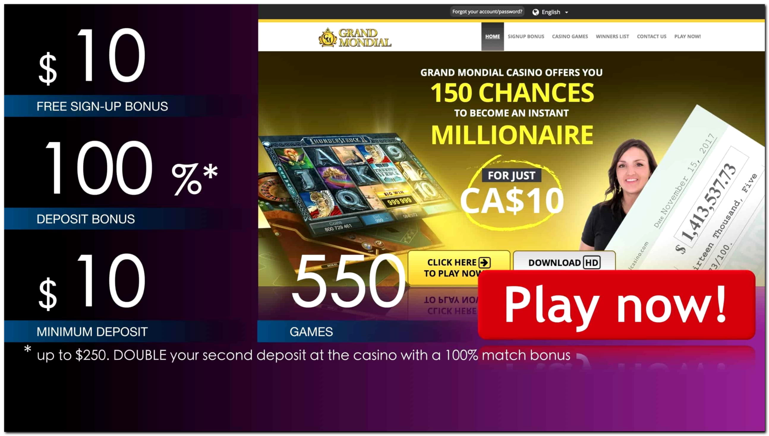 77 Free Spins right now at Red Ping Win Casino
